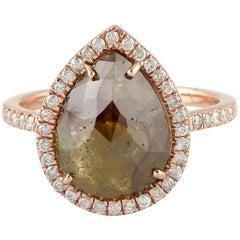 4.65 Carat Slice Diamond 18 Karat Gold Ring
