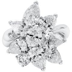 Roman Malakov, 4.66 Carat Diamond Fashionable Cluster Ring