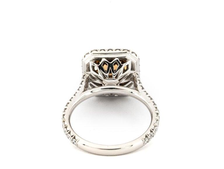 """4.68 Carat Fancy Yellow """"GIA"""" Radiant Cut Diamond Ring by the Diamond Oak In New Condition For Sale In New York, NY"""
