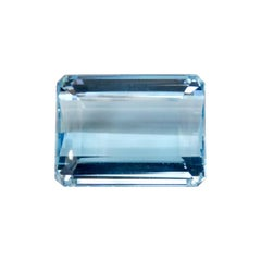 Aquamarine 46.9 Carat  Octagon Step Cut Gemstone