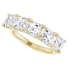 4.7 Carat Asscher Diamond Anniversary Band