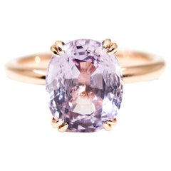 4.7 Carat Oval Purple Spinel Solitaire Cocktail Ring in 18 Carat Rose Gold