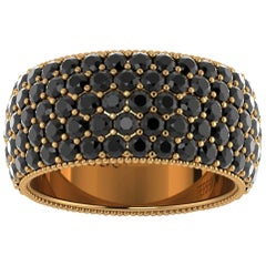 4.70 Carat Black Diamonds 18 Karat Yellow Gold