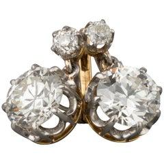 4.70 Carat Diamonds Antique Belle Epoque Earrings
