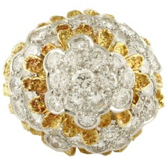 4.73 Carat Diamonds, 18 Karat Yellow Gold, Ring