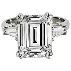 4.73 cts Emerald-Cut  GIA Cert Ring