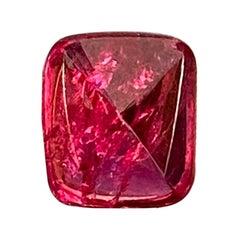 4.75 Carat Sugarloaf-Cut Unheated Burmese Vivid Red Spinel