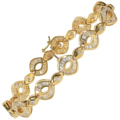 4.75 Carat Total Weight Diamond Link Bracelet