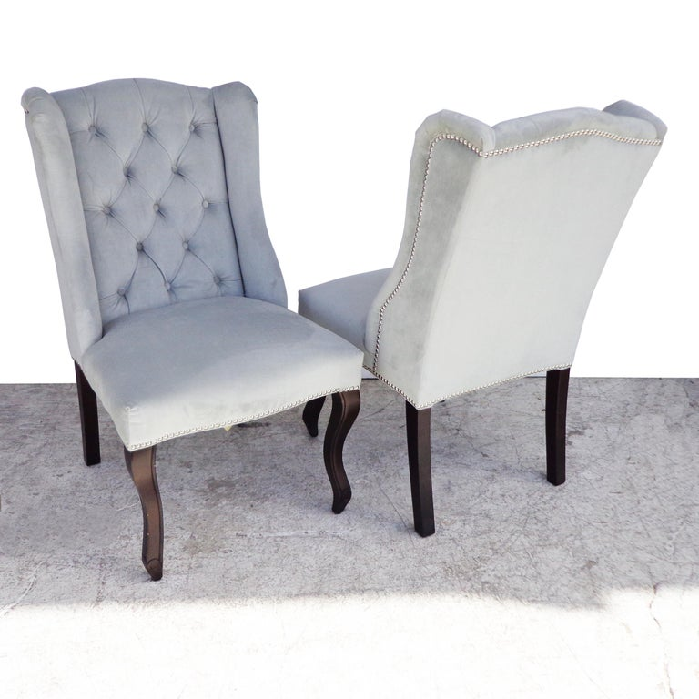 Hollywood Regency Mirrored Table and Archer Dining Chairs by Z Gallerie For Sale