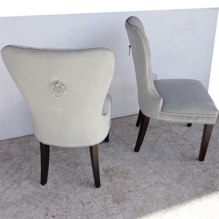 North American Mirrored Table and Archer Dining Chairs by Z Gallerie For Sale