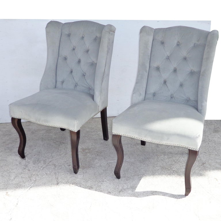 Glass Mirrored Table and Archer Dining Chairs by Z Gallerie For Sale