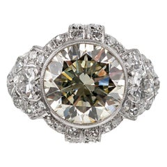 4.79 Carat Art Deco Diamond Ring