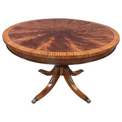 Round Mahogany Georgian Style Pedestal Table by Leighton Hall