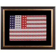 """48 Star """"Franco-anglo-american"""" Parade Flag Designed by Albert Hewitt"""