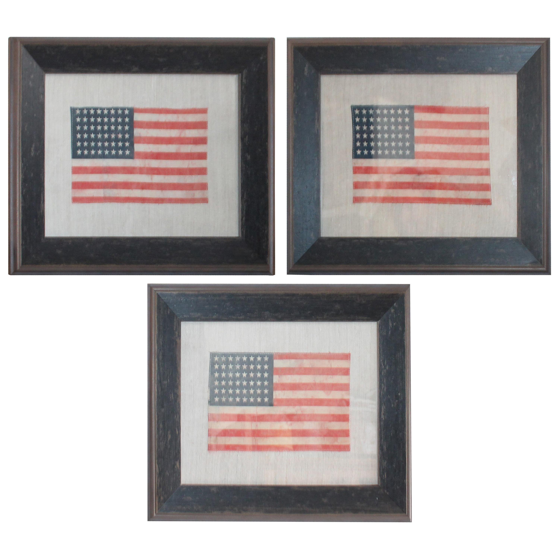 48 Star Oil Cloth Flag on Linen Backing