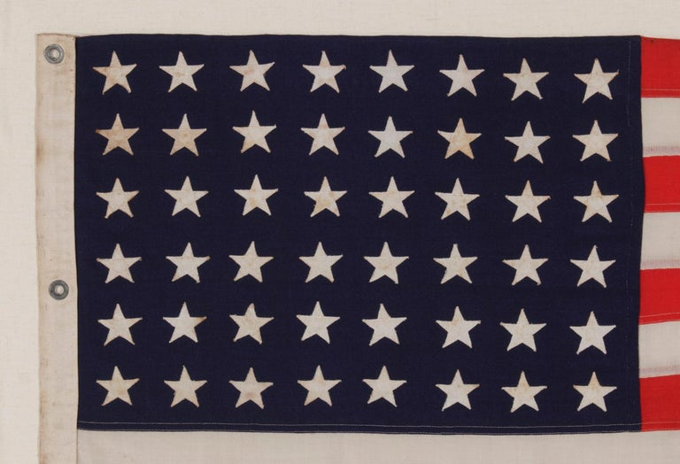 American 48 Star, U.S Navy Boat Ensign with 7 Star Pennant Handed Down Through the Family For Sale