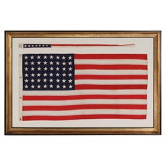 48 Star, U.S Navy Boat Ensign with 7 Star Pennant Handed Down Through the Family