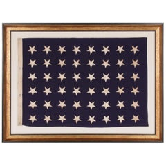 48 Star U.S Navy Jack, Made at Mare Island California