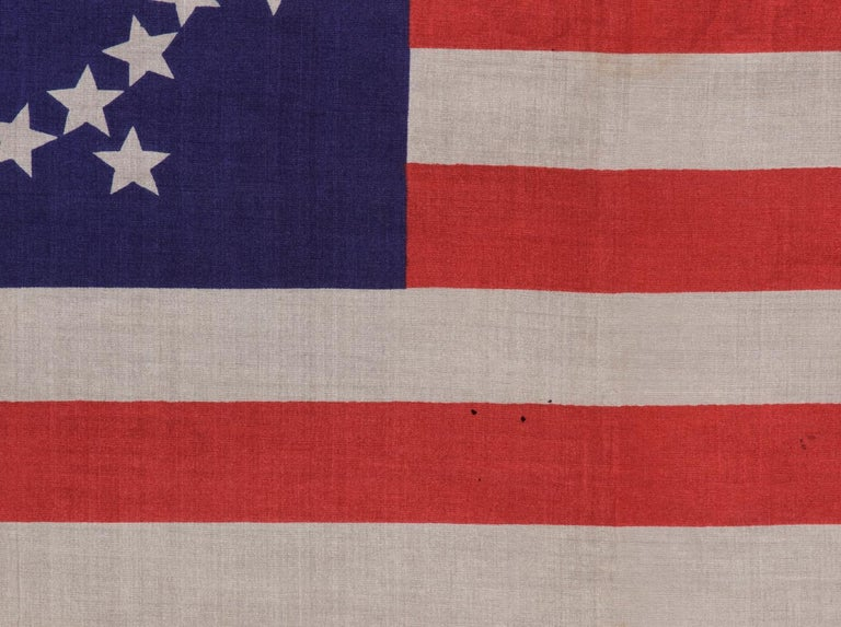48 Stars on an Antique American Flag Designed and Commissioned by Wayne Whipple In Good Condition For Sale In York County, PA