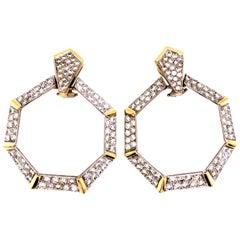 4.80 Carat Diamonds Clip-On Earrings, circa 1970s