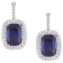 Laviere 48.47 Carat Tanzanite and Diamond Dangle Earrings