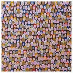 '486 Followers' Portrait Painting by Alan Fears Folk Art Pop Art