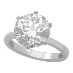 4.89 Carat Diamond Solitaire Engagement Ring in Platinum