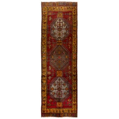 Vintage Handmade Turkish Village Runner Rug