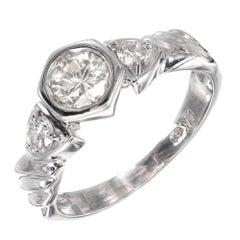 .49 Carat Diamond Three-Stone White Gold Engagement Ring