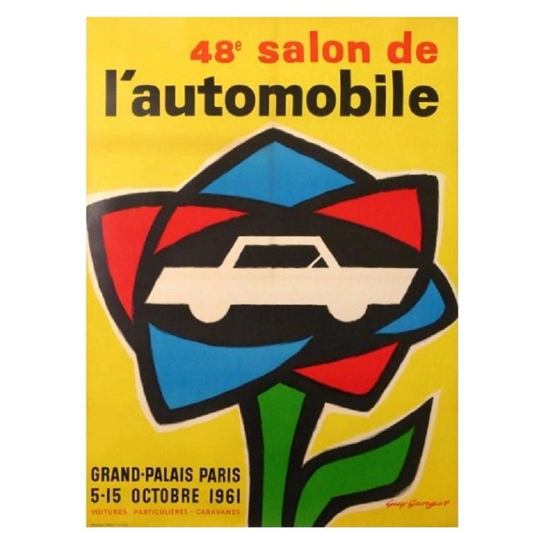 49 Grand-Palais Paris Motor Show Original Vintage Poster For Sale