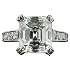 4.90 Carat Emerald-Cut Diamond Engagement Ring, GIA I SI2