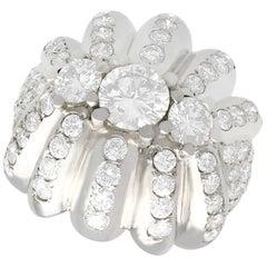 4.94 Carat Diamond and Platinum Cocktail Ring