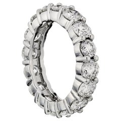 4.95 Carat Round Cut Diamond Platinum Eternity Band