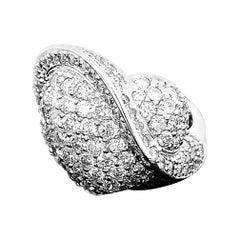 4ct Natural Diamond 18K White Gold Ring