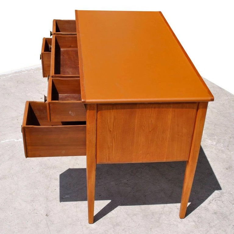 Oak Vintage Midcentury Desk by Widdicomb For Sale