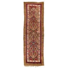 Rare Antique Northwest Persian Serab Wool Runner Rug, Camel Wool