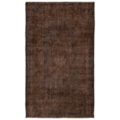 Brown Color Distressed, Worn Vintage Rug for Modern Home & Office Decor