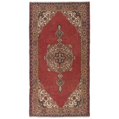 Vintage Turkish Rug, Traditional Handmade Wool Carpet for Home & Office