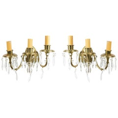 5 American Victorian Style Bronze Wall Sconces