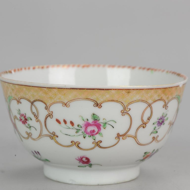 5# Antique Chinese, Qianlong 1760, Tea Bowl, Butterfly, Porcelain, Qing For Sale 8