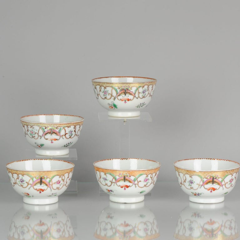 A nice set of teabowls. Qing dynasty - Qing period.  All will be packed neat and sent track and trace airmail with insurance. Packages are always shipped on the next wednesday.   Condition Overall condition; 1 perfect, 1 with chips from outside