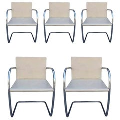 5 Brno Chairs by Ludwig Mies van der Rohe for Knoll