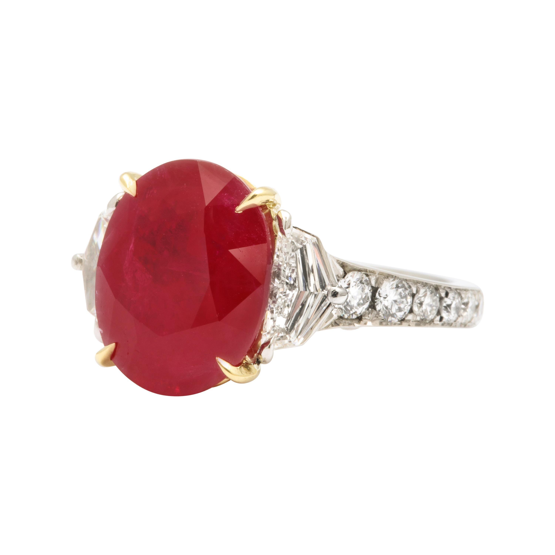 5 Carat Burma Ruby and Diamond Ring