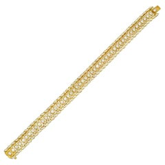5 Carat Diamond and Gold Bracelet