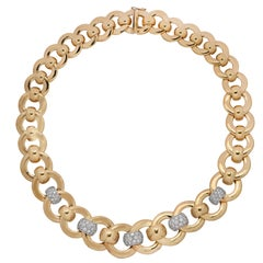 5 Carat Diamond and Gold Necklace