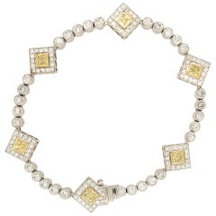 5 Carat Diamond Bracelet 18 Karat Gold