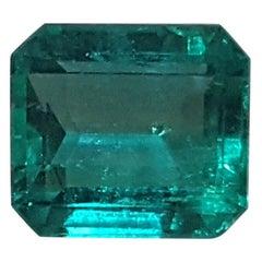 5 Carat Muzo Colombian Emerald Yellow Gold Engagement Ring