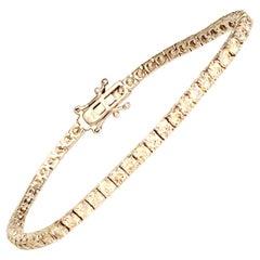 5 Carat Natural Round Diamond 4-Prong Tennis Bracelet in 14K White Gold