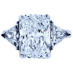 5 Carat Radiant Diamond Engagement Ring Three-Stone