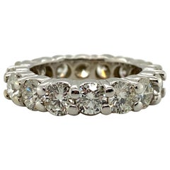 5 Carat Round Brilliant Diamond Eternity Band